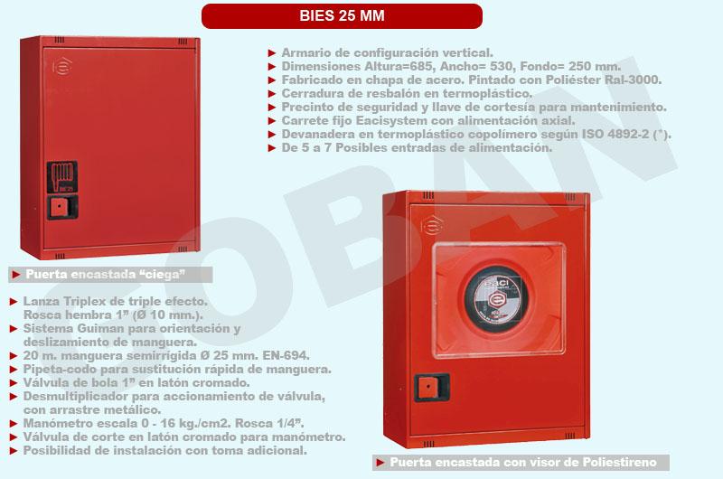 BIEs o bocas de incendio equipadas de 25mm