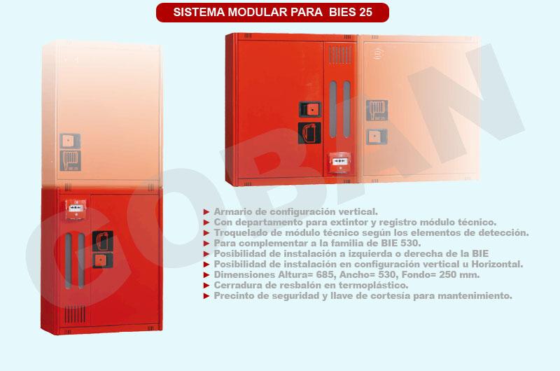 Sistema modular de BIES de 25 milímetros