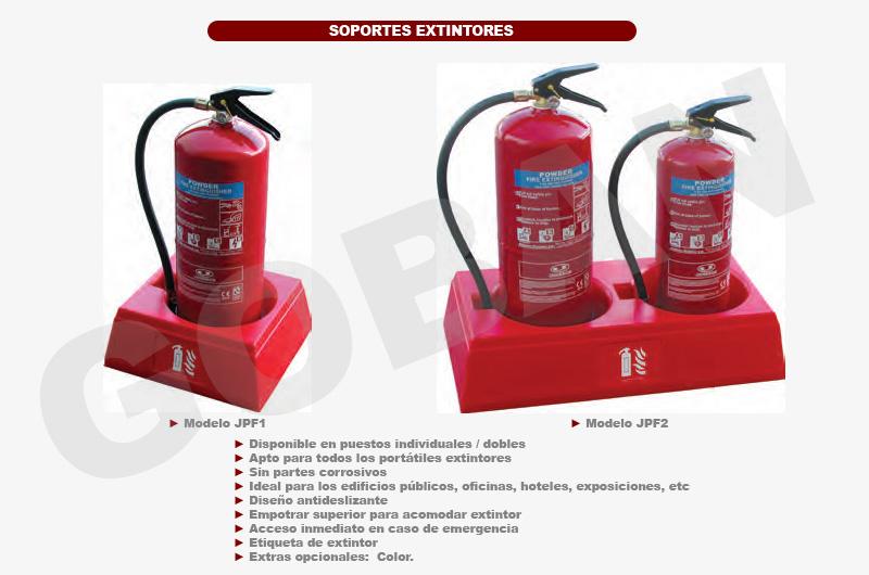 Soportes antideslizantes para extintores