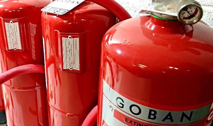 Extintores de polvo de Goban